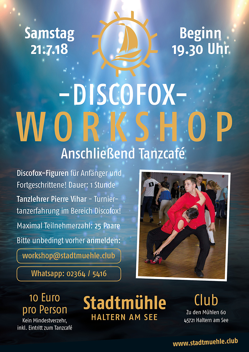 smh plakate juli 2018 discofox workshop